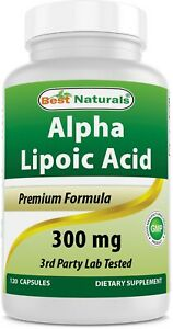 Best Naturals Alpha Lipoic Acid 300 mg 120 Capsules antioxidant