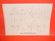 1971 TOYOTA COROLLA KE10L KE15L KE16L CORONA MARK II FRAME DIMENSION CHART