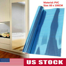 Self Adhesive PVC Mirror Reflective Tiles Wall Paper Wall Sticker Home Decor USA