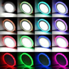 Ultra Slim Recessed RGB LED Flat Panel Ceiling Light Downlight Spotlight Round