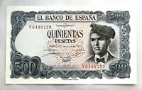 Spain-Billete. Jacinto Verdaguer. 500 Pesetas. 1971. SC/UNC