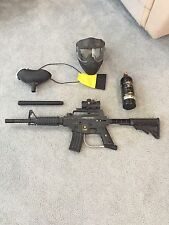 Custom Tipman Alpha Black Paintball Gun Package
