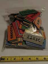 (119) 2-Sided FUNGLISH Word Tiles! Replacement Game Parts / Craft Project!