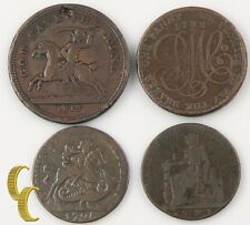 1788-1813 British Merchant Tokens Lot (F-VF, 4 coin) Druid Charles Roe St George