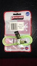 Genuine Premier Micro USB Samsung/LG/Motorolla Micro USB Colour Charging Cable