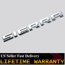 OEM GMC SIERRA Emblem Badge Rear Tailgate & Door Chrome Nameplate 3D Letter