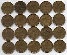 LOT DE 20 Pièces de 50 francs GUIRAUD 1951B