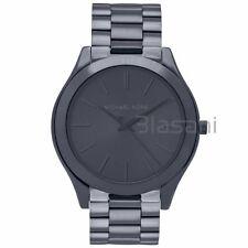 Michael Kors Original MK3419 Women's Skim Runway Stainless Steel Blue Watch