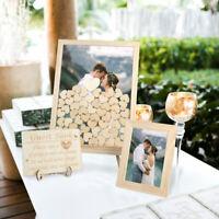 OurWarm Wedding Guest Book Alternative Wooden Frame Graduation Decoratio