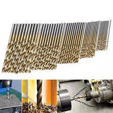 50x Titanium Coated HSS High Speed Steel Drill Bit Set Tool 1/1.5/2/2.5/3mm