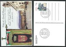 2002 ITALIA CARTOLINA POSTALE VISITA PRESIDENTE ANNULLO SPECIALE ASCOLI PICENO
