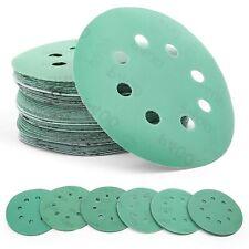 60PCS 5'' Wet Dry Sanding Discs 60-320 Grit Random Orbital Sandpaper Hook Loop
