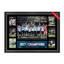 SYDNEY FC 2017 A-LEAGUE CHAMPIONS FRAMED LIMITED EDITION TRIBUTE PRINT