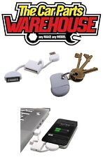 iPhone 3G, 3GS, 4, 4S, iPad, iPad Touch & Nano Keyring USB Charging Cable USB 2