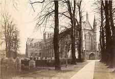 J.V., UK, Winchester Cathedra, west front  Vintage albumen print. English photog