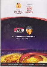 Programme / Programma AZ Alkmaar v Valencia CF 29-03-2012 UEFA Europa League