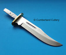 "Knife Making  Blade Blank with 6"" Sharpened Stainless Blade & Brass Guard"