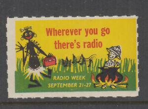 Australia 1950s (-)  RADIO WEEK -rouletted -Cinderella-MUH