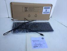 HP Multimedia Black USB Keyboard w/Sleep Vol Play SK-2015 KU-1156 672647-003 NEW