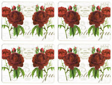 NEW Set of 4 Dining Table Placemats and Coasters Botanical Rose
