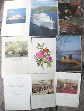9 x P & O  Canberra Menu Cards including 2 Pencillings