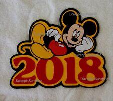 DISNEY 2018 Mickey Die Cut Title Scrapbook Page Paper Piece - SSFFDeb