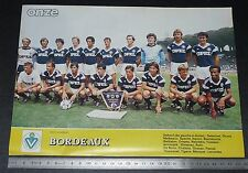 CLIPPING POSTER FOOTBALL 1985-1986 GIRONDINS BORDEAUX GBFC PARC LESCURE