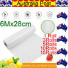 Vacuum Food Sealer Rolls Saver Bags Seal Storage Commercial Heat Grade 6MX28cm