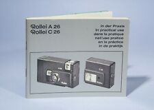 Rollei A26 Rollei C26 Camera & Flash Instruction Manual
