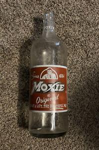 Moxie Soda Glass Bottle 1 Pt 10 FL OZS Needham Heights, Mass Metropolitan Boston