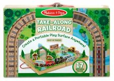 WOODEN TAKE - ALONG RAILROAD - MELISSA & DOUG