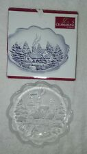 Mikasa serving Dish Glass Platter Tray Christmas Winter Wonderland Collection 7""