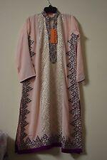 Pakistani Designer Salwar Kameez Party Wear thread Embroidery Wedding Dress L