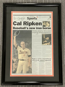 Cal Ripken Jr Signed Newspaper Press Plate Orioles Auto Iron Man HOF PSA/DNA