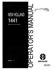NEW HOLLAND 1441 DISBINE MOWER-CONDITIONER BEFORE PIN 1230295 OPERATOR`S MANUAL