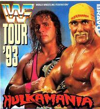 Bret Hitman Hart & Hulk Hogan,  Bravo Star Pass / Aufkleber _ Sticker