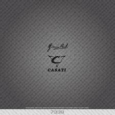 07339 Casati Bicycle Head Badge Sticker - Decal - Transfer - Black