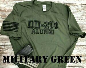 DD-214 Alumni Military T-shirt. Coast Guard, Marines, Navy, Army, Air Force