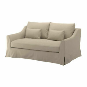 IKEA FARLOV Loveseat Cover, 2 seat Sofa Flodafors Beige Slipcover 603.066.82 NEW