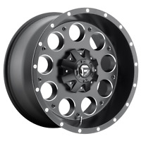 1 NEW FUEL WHEEL/RIM REVOLVER 17x9 8x170.00 MATTE BLACK MILLED (-12mm) FC525