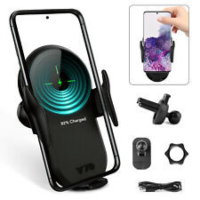 15W Qi Wireless Fast Charger Car Mount Holder Automatic Clamp For Samsung/iPhone