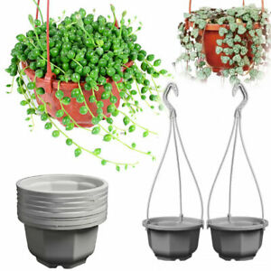 Octagonal Hanging Flower Plant Pot Basket Planter Holder Balcony Garden Decor