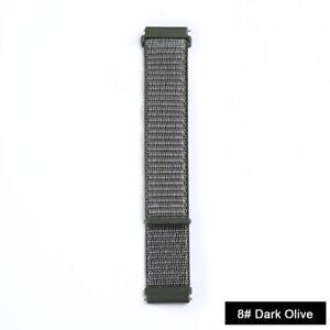 20/22mm Nylon Sport Band Watch Strap for Samsung Galaxy Watch 3 42/46mm Gear S3