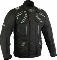 Herren Motorrad Touring Textil Jacke Biker Motorrad Sommer Jacke Schwarz