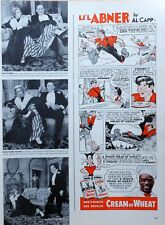 Li'l Abner by Al Capp - fun Cream of Wheat color comic ad - November 18, 1940
