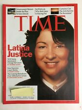 Time Magazine, June 8 2009, Latina Justice, Sonia Sotomayor, Supreme Court