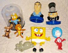 Lot of 8 Miniature Figures Bruce Wayne, Penguin, Spongebob, Maggie, Madagascar