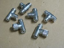 Coaxial Adapters T's all Uhf connectors 6 units