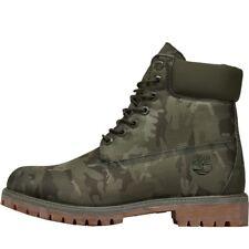 Timberland Mens 6 Inch Premium UK6.5 Camo Boots Grape Leaf Chukka HIKER CHELSEA