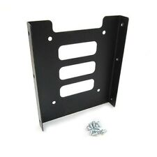 """2.5"""" to 3.5"""" SSD to HDD Black Metal Adapter Mounting Bracket Hard Drive Holder"""